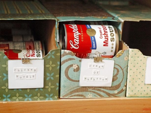 Storing Soup Cans Easily