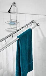 double rod towel holder