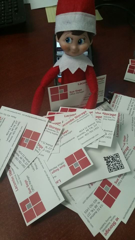 elf and business cards
