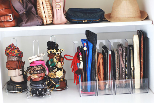 Storing Hair Ties, Belts and Bracelets