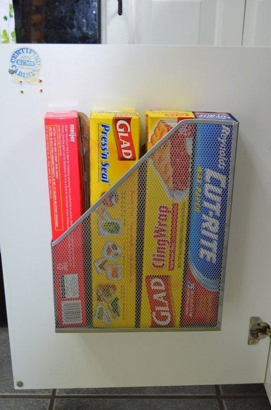 Storing Plastic Wrap or Tin Foil